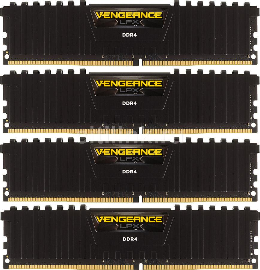 Модуль памяти CORSAIR Vengeance LPX CMK32GX4M4A2400C14 DDR4 -  4x 8Гб 2400, DIMM,  Ret