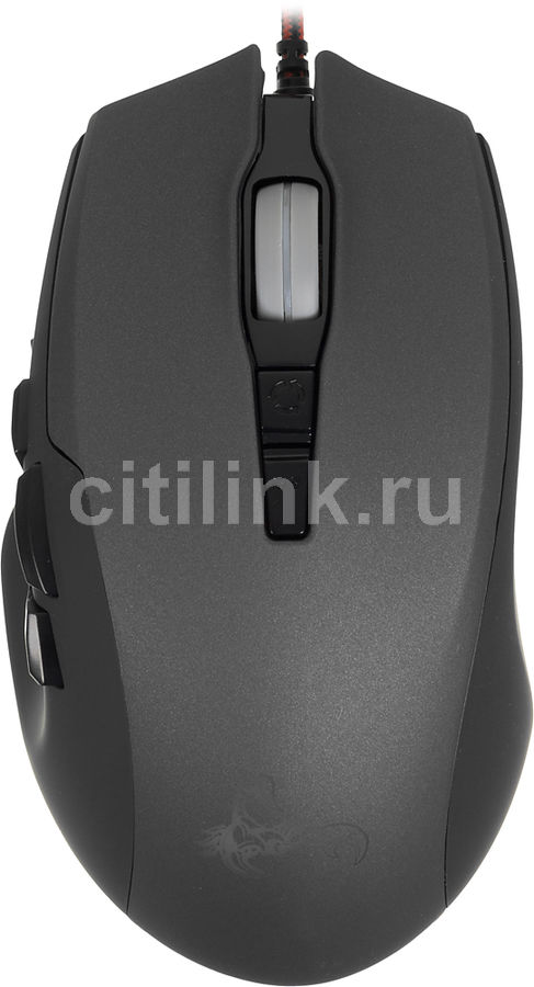 Мышь OKLICK 785G SCORPION оптическая проводная USB, черный и серый [mg-1423]
