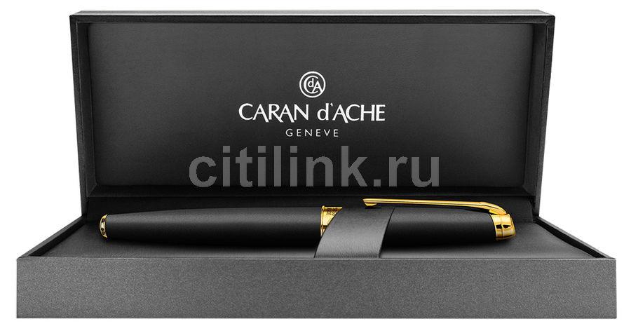 Ручка шариковая Carandache Leman (4789.296) Black lacquered matte GP подар.кор.