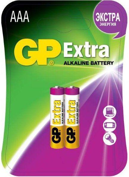 Батарея GP Extra Alkaline 24AX LR03,  2 шт. AAA