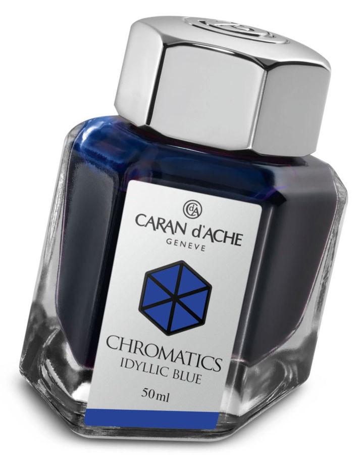 Флакон с чернилами Carandache Chromatics (8011.140) Iddyllic blue чернила 50мл