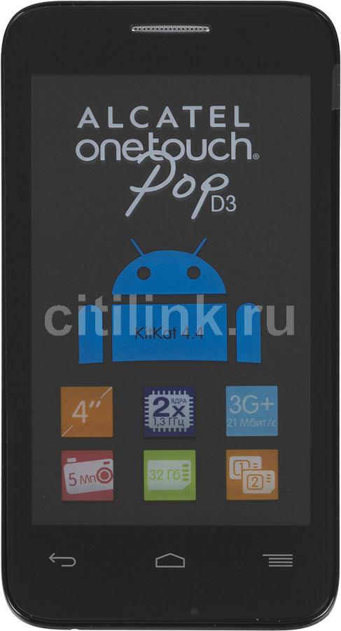 Смартфон ALCATEL POP D3 4035D  черный/синий