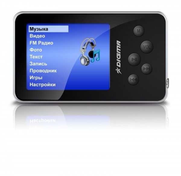 MP3 плеер DIGMA MP640 flash 2Гб черный