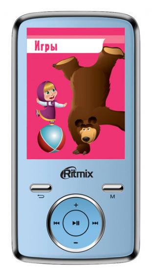 MP3 плеер RITMIX RF-7650M flash 4Гб синий [15115202]
