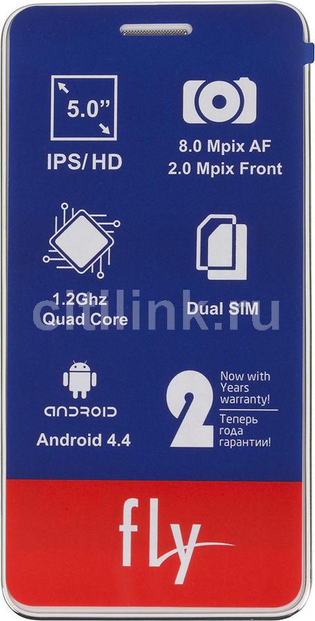 Смартфон FLY Evo Chic 4 Quad IQ4512  8Гб, белый