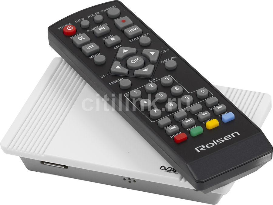 Ресивер DVB-T2 ROLSEN RDB-522w,  белый [1-rldb-rdb-522w]