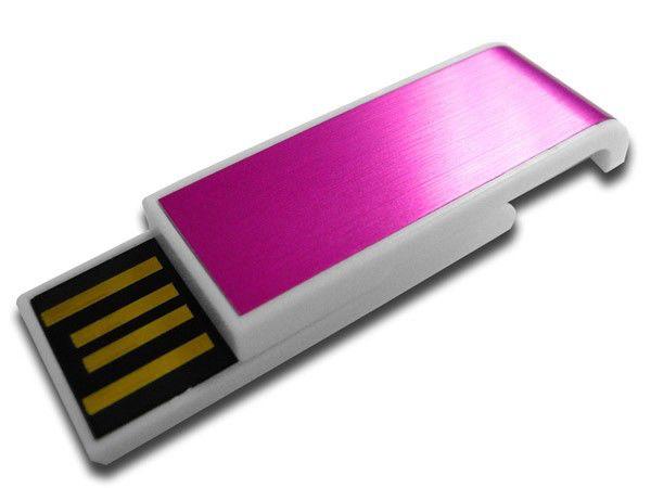 Флешка USB DIGMA Slyd 8Гб, USB2.0, розовый и белый