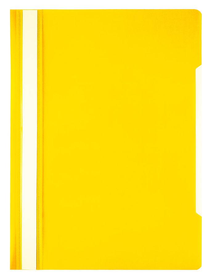 Папка-скоросшиватель Бюрократ Economy -PSE20YEL A4 прозрач.верх.лист пластик желтый 0.10/0.12