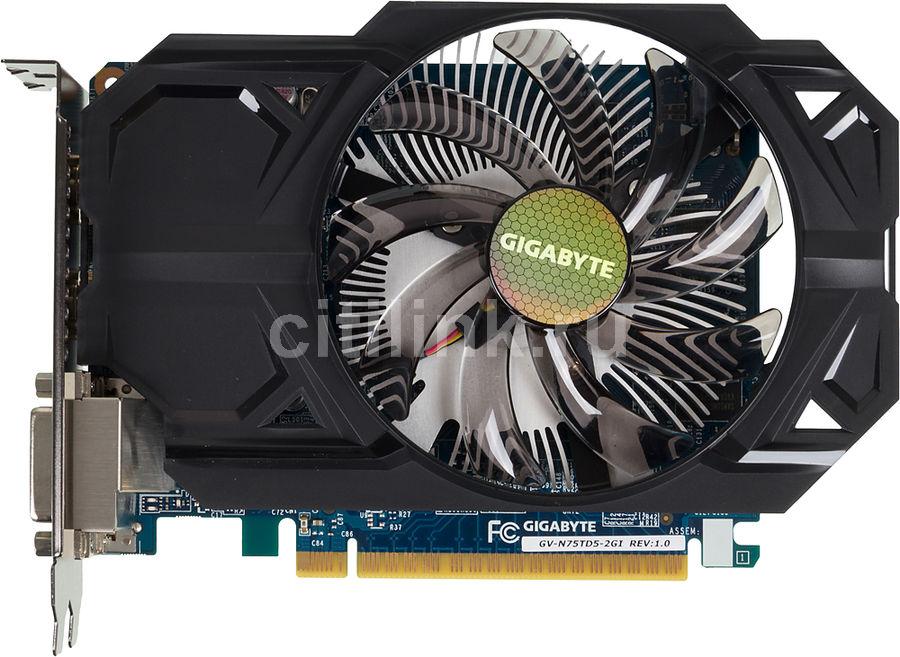 Видеокарта GIGABYTE GeForce GTX 750Ti,  GV-N75TD5-2GI,  2Гб, GDDR5, Ret