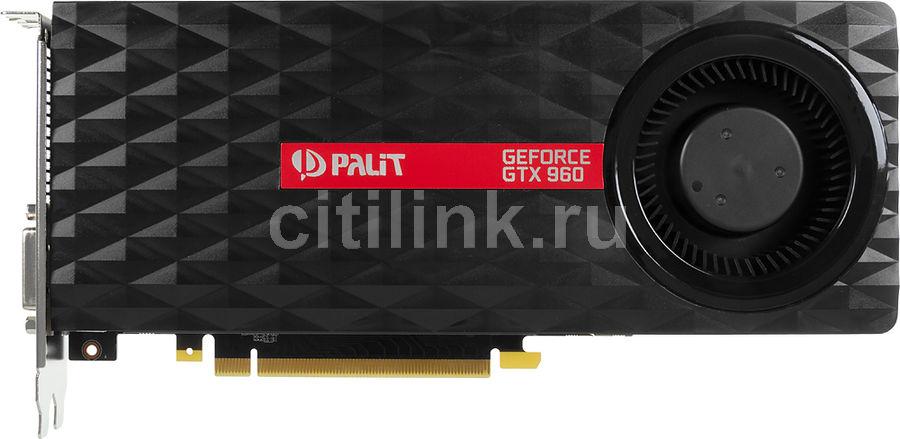 Видеокарта PALIT GeForce GTX 960,  PA-GTX960-OC-2G,  2Гб, GDDR5, Ret [ne5x960s1041-2061f]